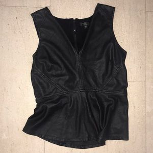 Black Sanctuary leather panel top